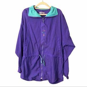 Vintage PUMA Purple 90s Drawstring Windbreaker M
